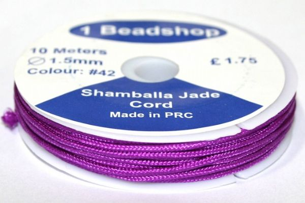 Purple 42 10 Metres x 1.5mm Jade Cord JSC-10-1.5-42 / S.B